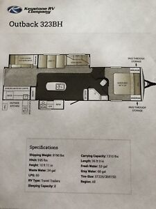 2014 323 Outback bunk house island kitchen slide