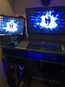 Brand new Gaming PC+screens+desk+chair+ wall mounts