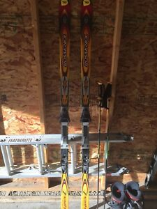 Rossignol skis poles and boots