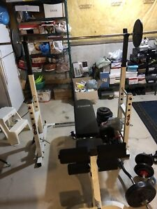Bench Press/Squat Rack with weights!