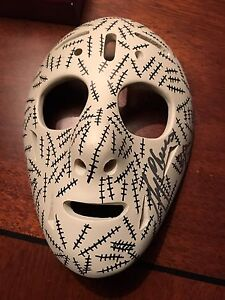 Gerry Cheevers Upper Deck Mask Collection signed mask with coa.