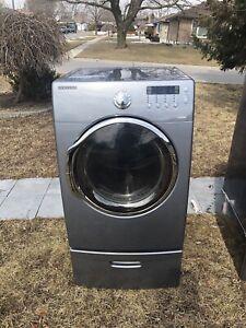 MINT Condition Working Samsung Dryer with Pedestal
