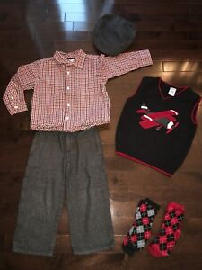 """Gymboree 6-Piece Boy """"Holiday Memories"""" Outfit - Size 2T"""