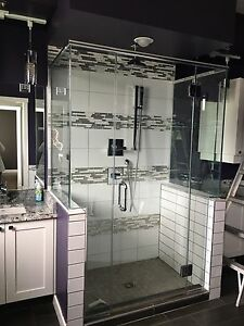 Glass and hardware for shower
