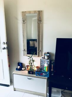 Shoe Cabinet And A Matching Wall Mirror