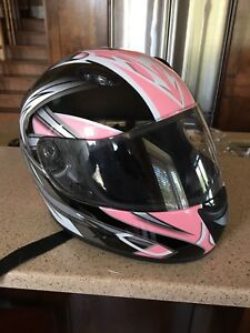 Women's motorcycle helmet size small.