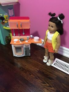 American girl style 18 inch doll kitchen - like new