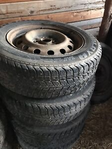 Studded winters on rims
