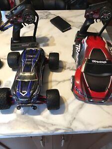 Traxxas 1/16 pair rc cars