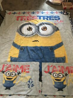 KIDS MINIONS QUILT COVER - DOUBLE/QUEEN