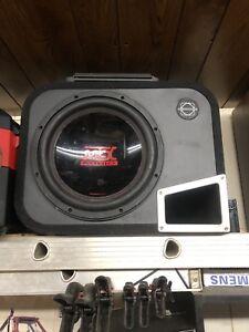"12"" mtx sub in bassworks box"