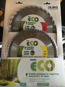 Lames neuves Banc de scie / Table saw blades new