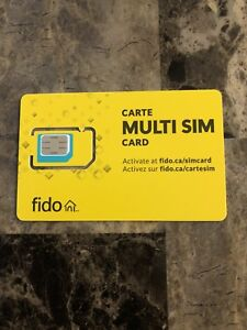 Fido Sim Card - Multi Sim Card