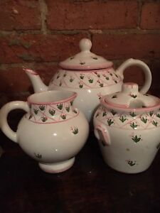 Handpainted tea service set from Portugal