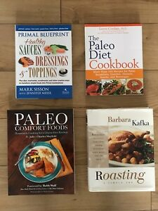 Lot of 4 paleo primal keto low carb healthy recipe cookbooks