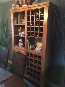 Shelving unit with wine storage