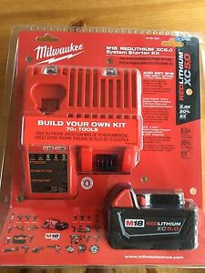 Milwaukee rapid charger + 5.0 ah battery