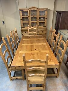 DIRECT FROM MEXICO- Solid Mexican Pine Dining Set WOW!!!