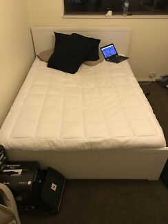 3 Month old Queen Size Mattress and Frame for sale