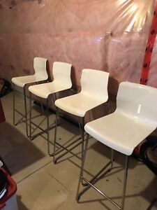 Ikea Glenn White Bar Stools x4