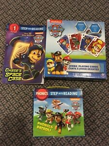 Paw Patrol books & playing cards