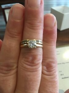 Diamond Engagement ring and matching band