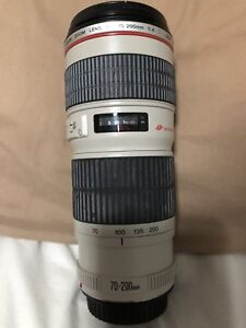 Canon professional telephoto lens  EF 70 to 200mm USM