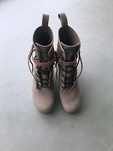 Swedish hasbeens platform lace-up combat boots size 36