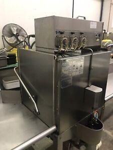 Pass through dishwasher and tabling set up