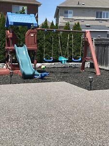 Swing set playground