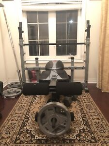 Olympic weight set and bench