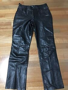 LEATHER PANTS BLACK - SIZE 10 Canada Bay Canada Bay Area Preview