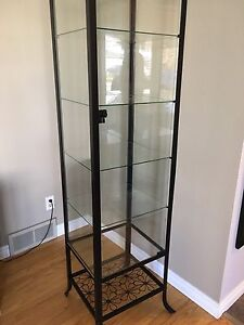 IKEA glass shelf cabinet