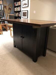 Solid Wood Kitchen Island/Work Station
