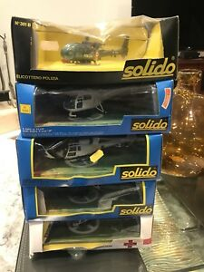 1/64 DIECAST SOLIDO VINTAGE HELICOPTERS 5 MODELS IN STOCK RARE