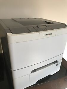 Lexmark color laser duplex network printer with extra paper tray