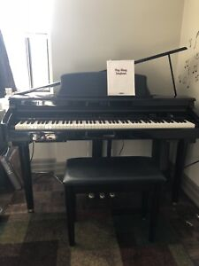 Micro baby grand piano keyboard