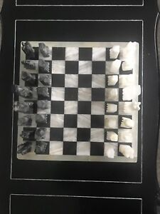 Chess game. Marble.
