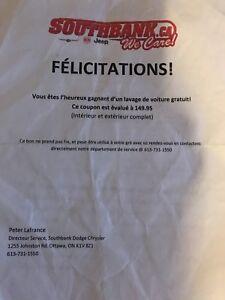 Certificat de lavage de voiture ( auto  )