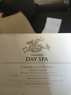 Canberra day Spa gift voucher $100