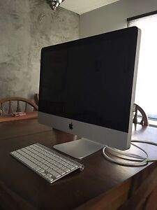 Mac computer and keyboard