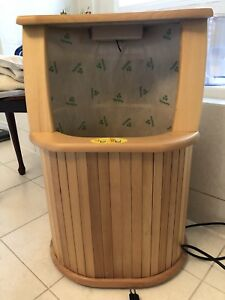 Ruby lighting infrared wooden foot sauna with massaging
