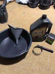 Motorcycle Oil Change supplies