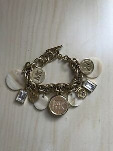 Michael Kors gold charm bracelet watch