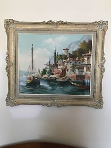 Original Henry Housier oil painting
