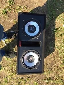 """Two 10"""" with box and amp"""