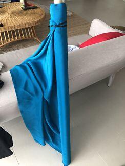 Turquoise / teal satin silk