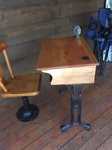 Beautiful Antique school desk and chair