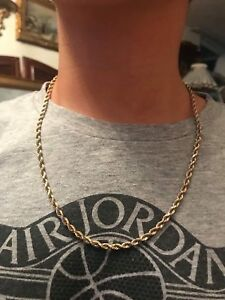 10k real gold rope chain