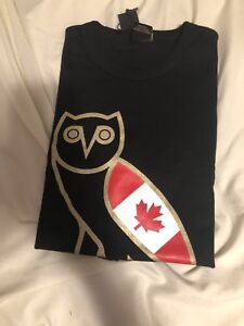 OVO OCTOBERS VERY OWN CANADA OG OWL T-SHIRT SIZE LARGE